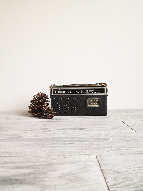 Vintage Strauss Portable Green Transistor Radio Player - CocoAndBear