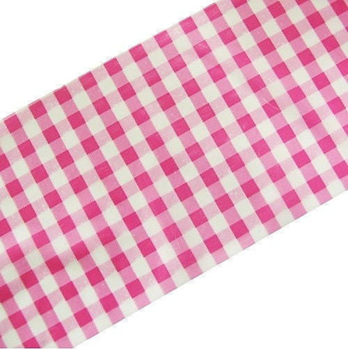 Pink Check Box Tape - 50mm wide