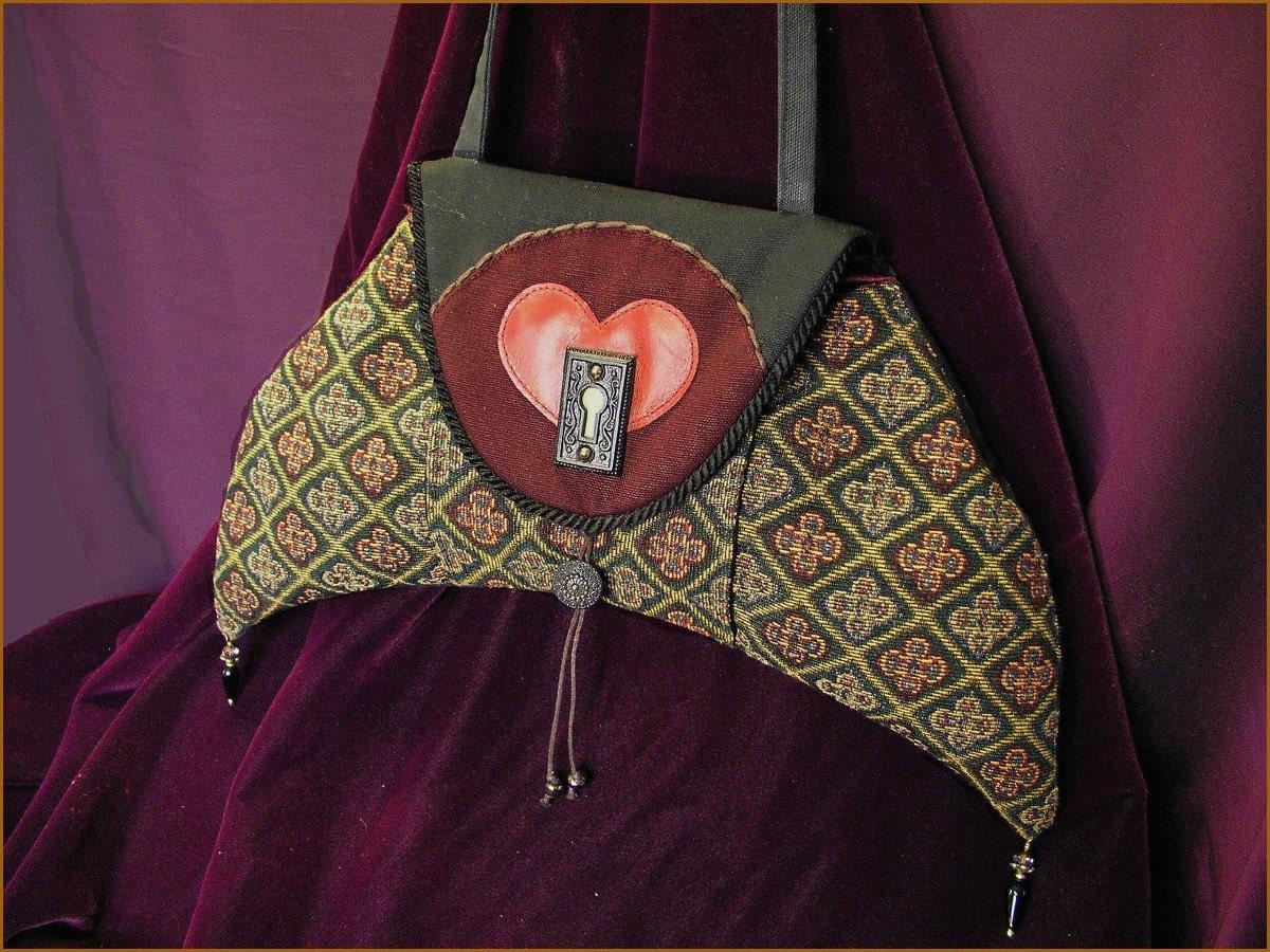Unlocking Heart Crescent Shoulder Bag