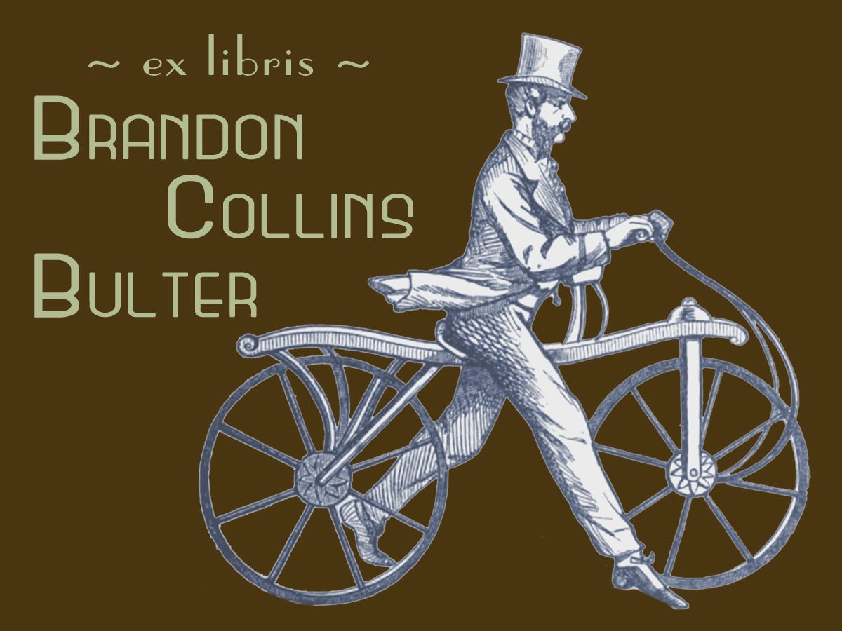 Bicycle and a Moustache (set of 12 personalized bookplates)