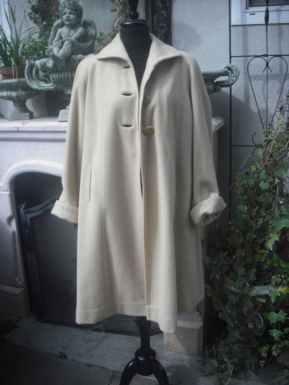 RESERVED 1950s Camel Swing Coat  MAD MEN  Professional Work  Attire Jackie Kennedy