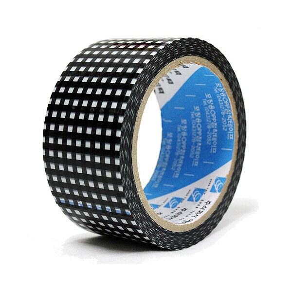 Black Check Box Tape - 50mm wide