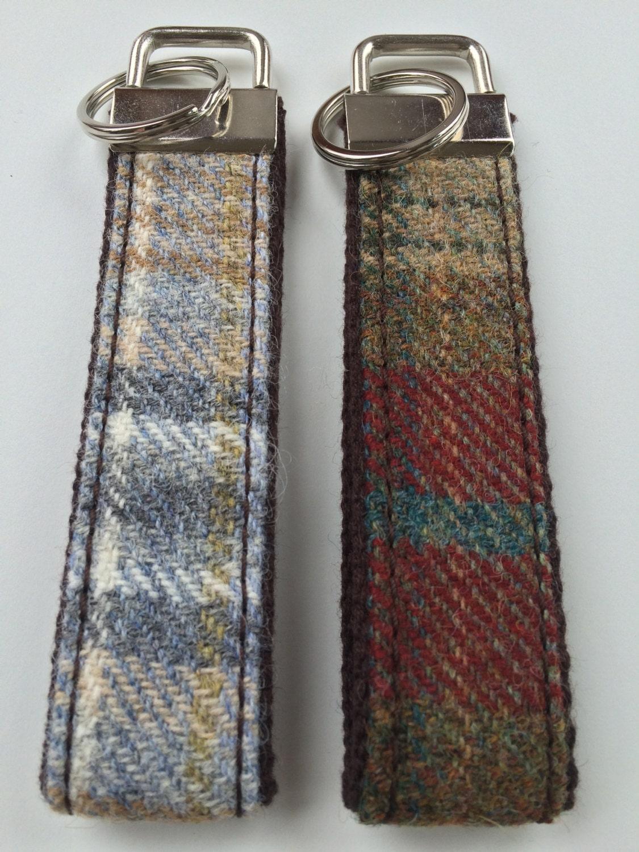 Handmade Tweed Fabric Key Fob Key Chain Key Ring Key Holder