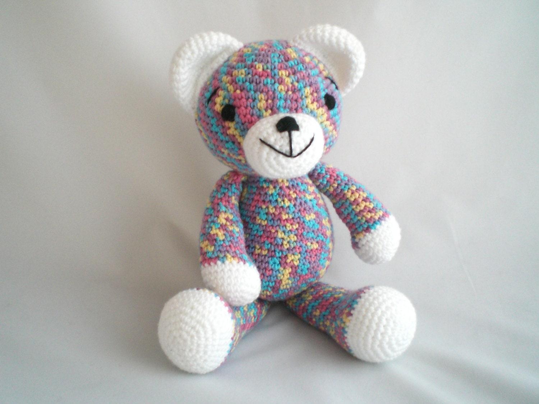 Crochet Teddy Bear  Amigurumi Teddy Bear   Ultra Soft and Cuddly Teddy Bear  Teddy Bear Baby soft toy  Teddy Bear Plush Baby Toy.