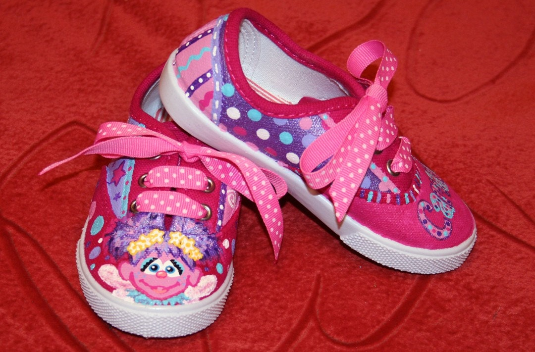 s custom painted tennis shoes abby cadabby by paintmama