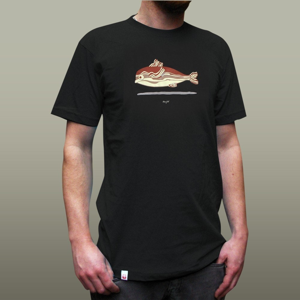 Baconfish T-Shirt - Men's/Unisex Black