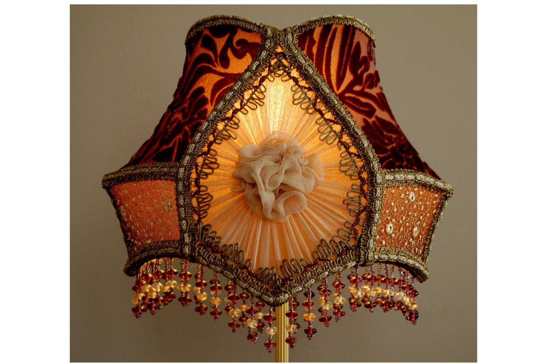 Ninotchka Small Victorian Lamp Shade By Lamplighter On Etsy