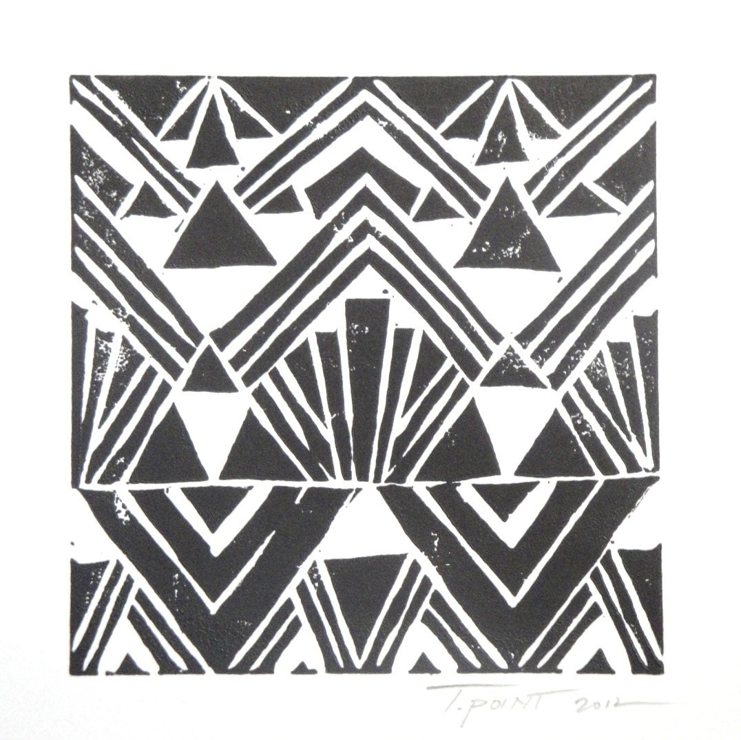 Small Black and White Art Deco Inspired Print