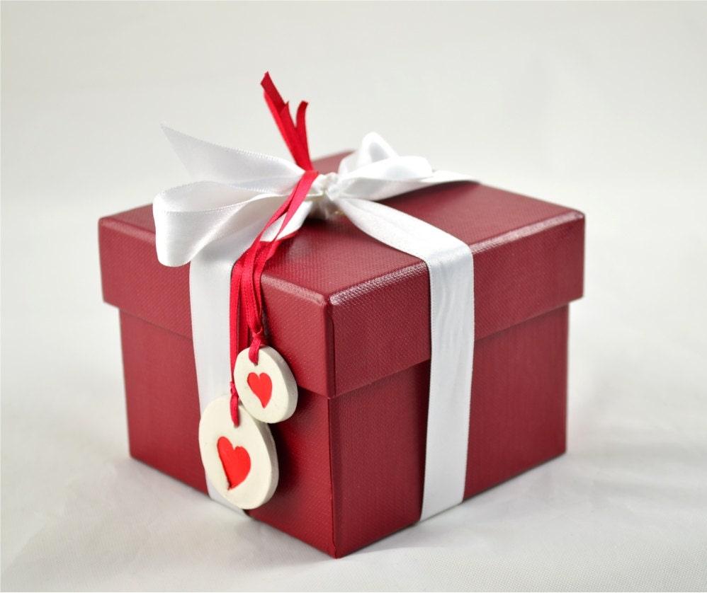 Tag do presente, em forma de coração, Accesory dos Namorados Presente - Conjunto de 6 - grande