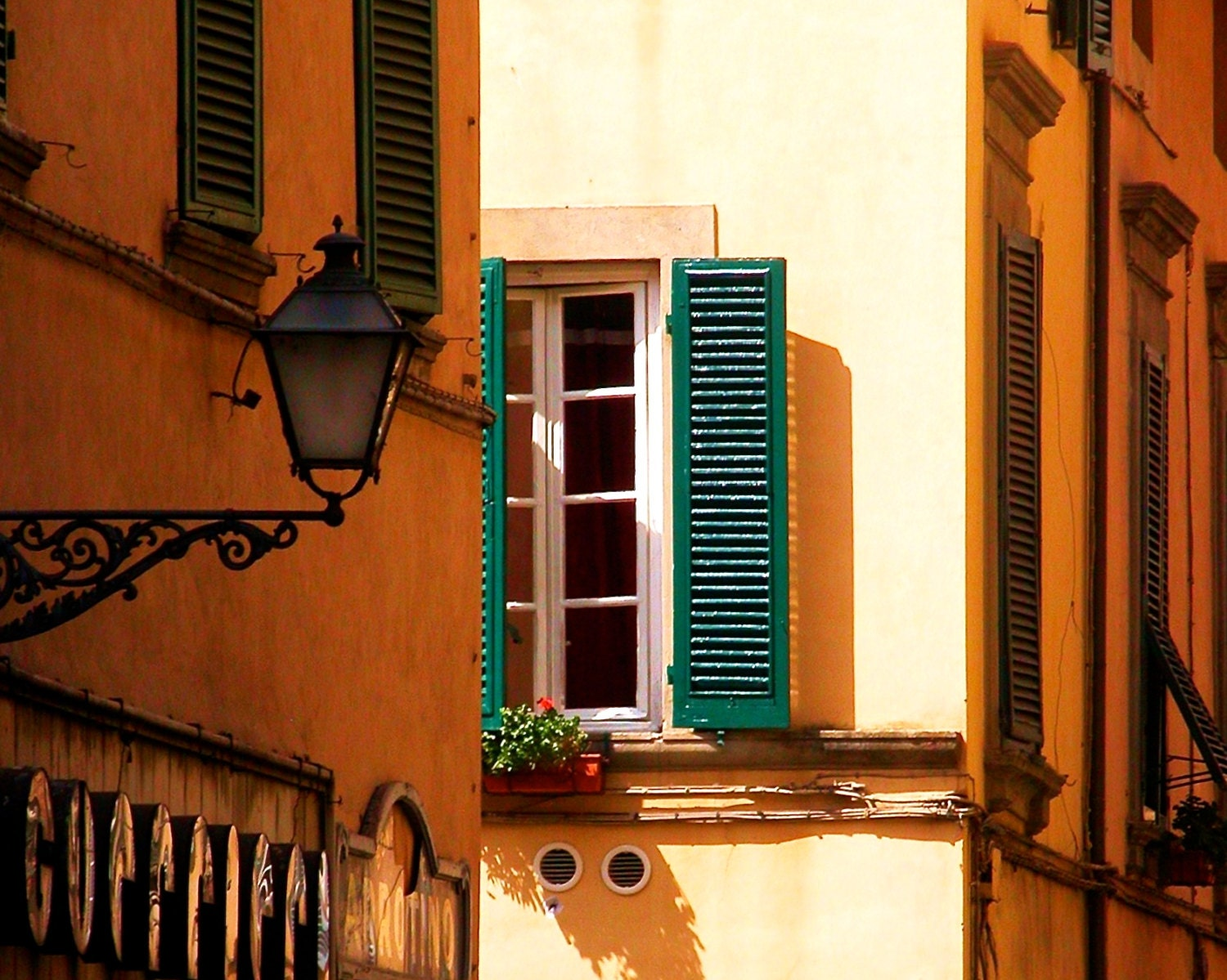Travel Photography- Burnt Sienna in Tuscany- Italian, Architectural, Tuscan, Fine Art Photography - PetitePastiche