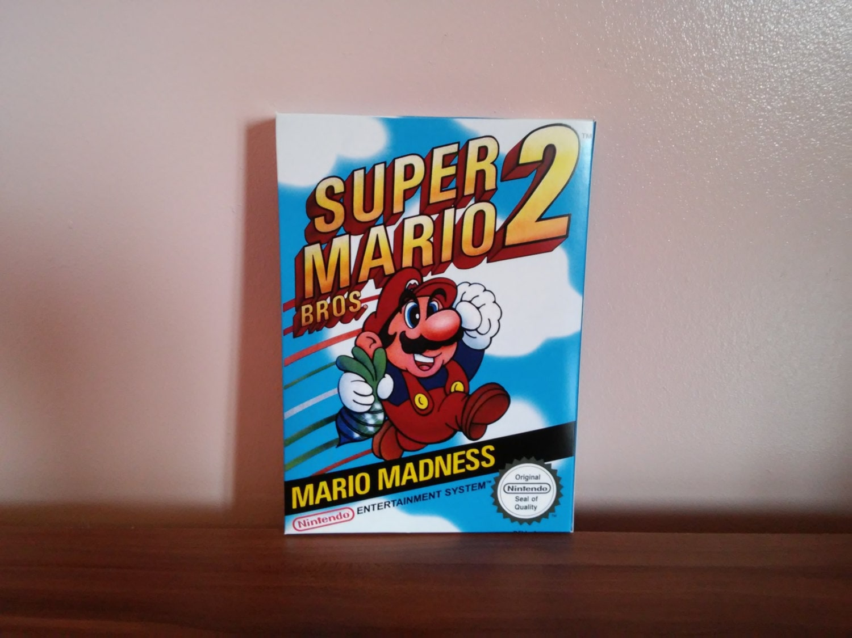 NES Super Mario Bros 2  USA or Pal Repro Box NO Game Included