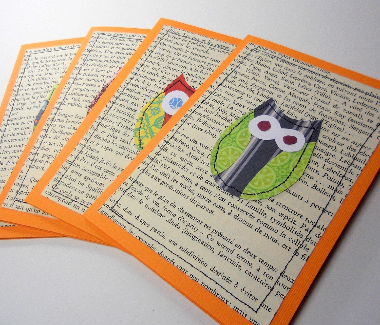 Owl Stationery Note Card Set