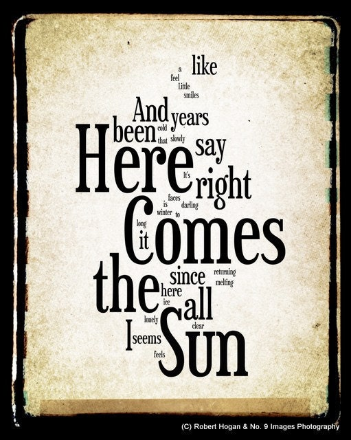 Here Comes Sunshine Lyrics