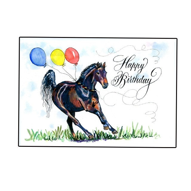 happy birthday horse card