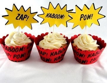 Comic Book Super Hero Cupcake Kit