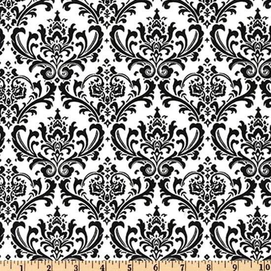 black and white damask wallpaper. Custom Damask Wallpaper Print