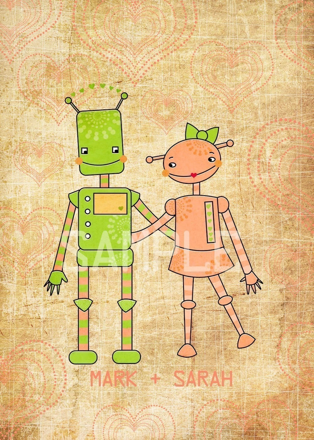 Robot Love Personalized Print