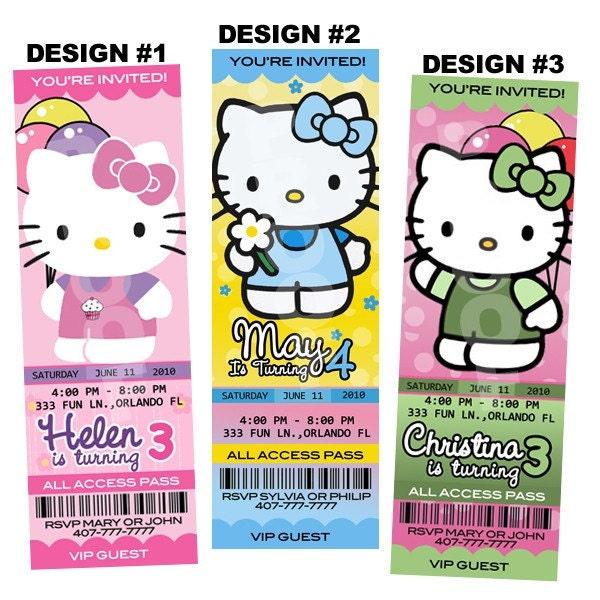 Hello Kitty Birthday Invitations. HELLO KITTY BIRTHDAY PARTY