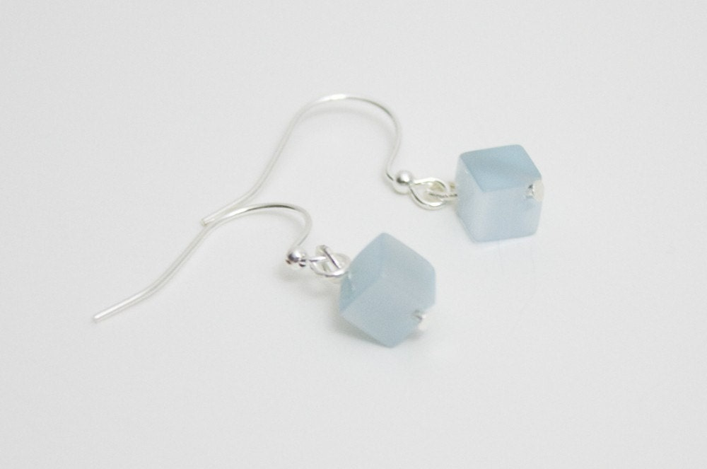 Amazonite cube earrings from etsy.com