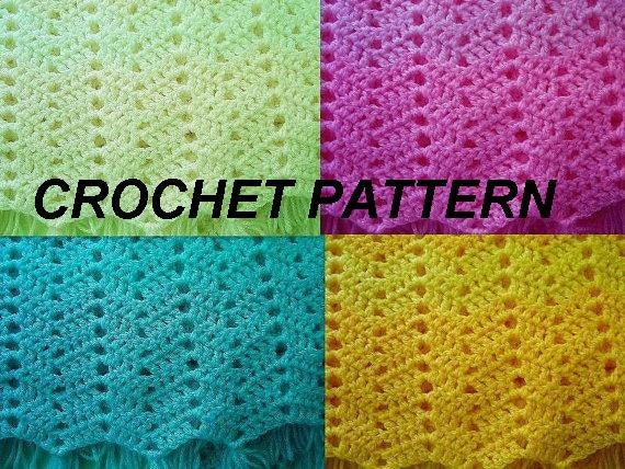 Crochet Stitches Pdf Free Download : Instant Download PDF Crochet Pattern - Ripple Stitch Baby Blanket ...