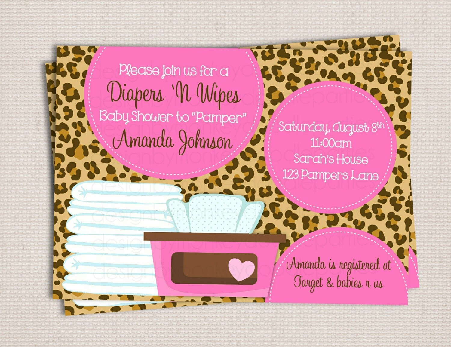 to diaper and wipe custom printable baby shower invitation baby