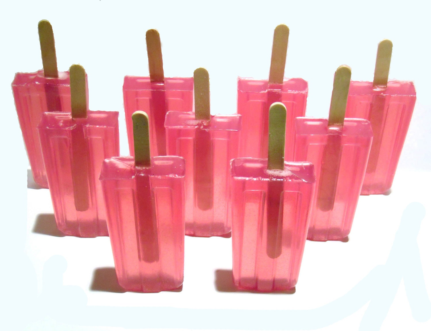 Popsicle Soap Watermelon Party Favors Wedding Favors Bridal Shower Favors Baby Shower Favors Birthday Party Favors - SunKidGifts