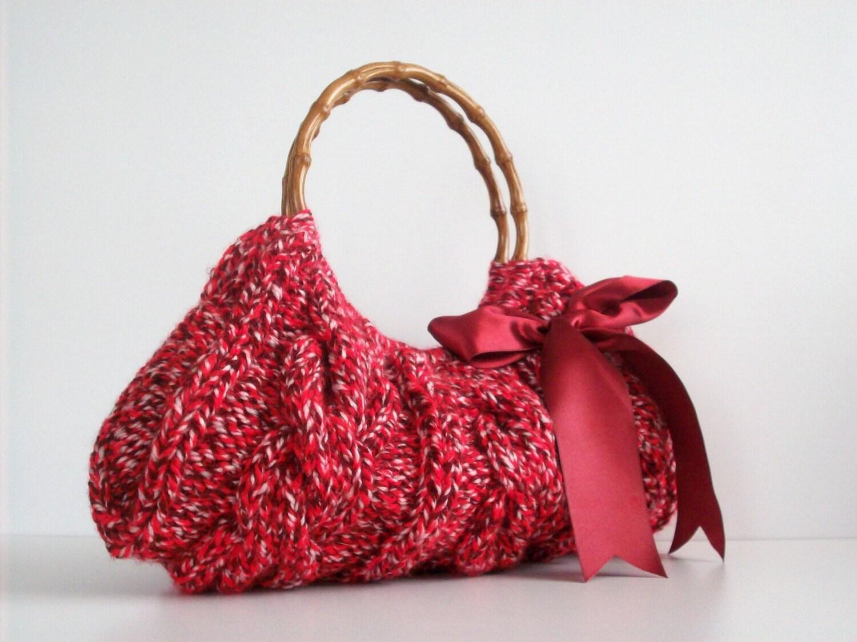 NzLbags حضرت عیسی مسیح و قرمز -- دستباف -- کیف دستی -- کیف شانه -- هر روز بگ سایهدار یاقوت سرخ بورگوندی کرم Knitted Nr -- 097