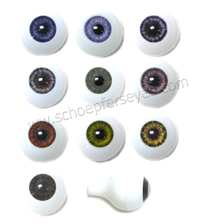 20mm Grey Glastic Realistic Acrylic Doll Eyes
