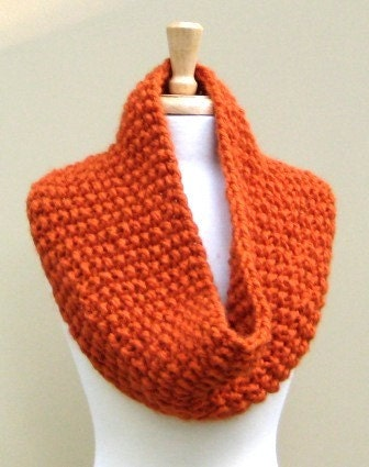 Large Cowl in Orange--An Easy Original Design