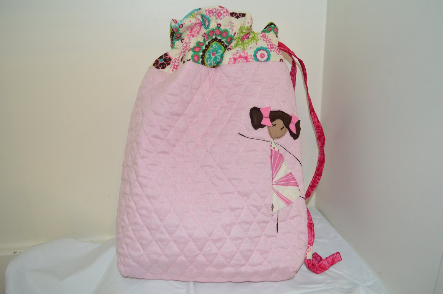 Pink Dancer Library Ballet Bag