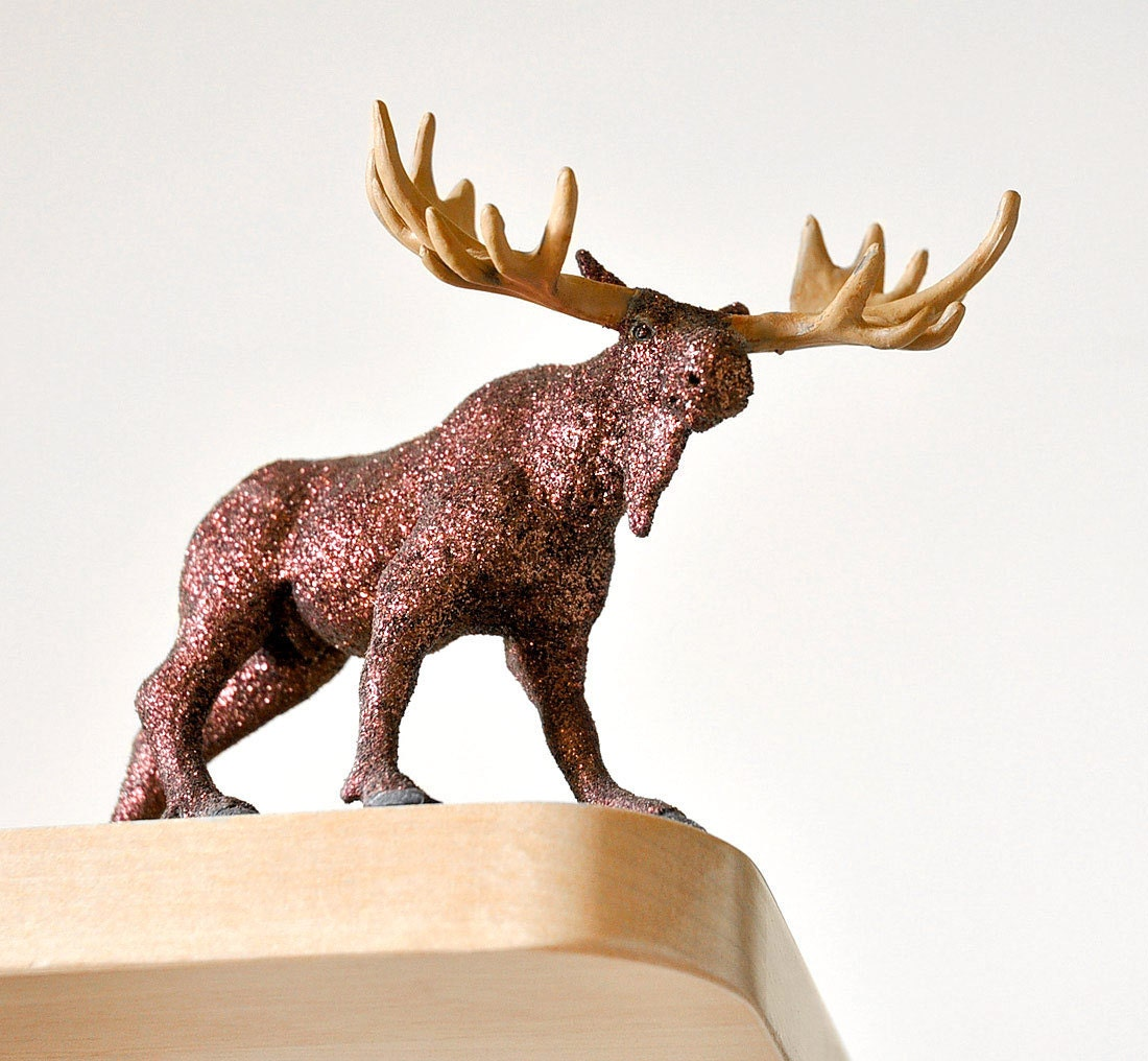 Woodland Moose Decor Table Decoration for Holiday Entertaining Tablescapes or Rustic Weddings Centerpiece