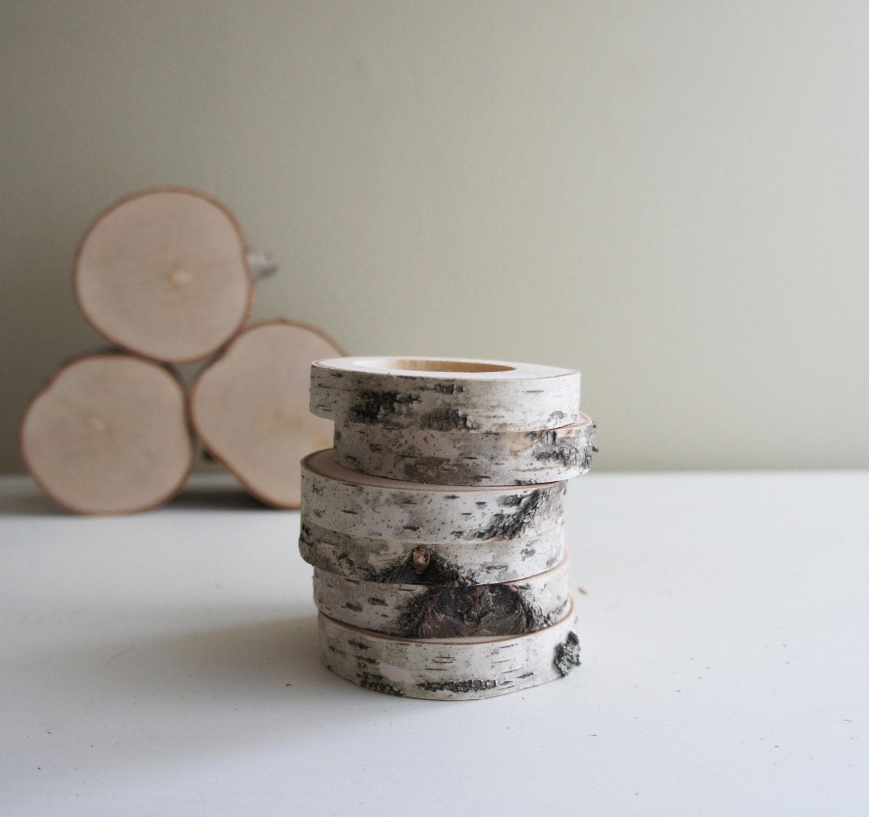 white birch forest napkin rings - set of 6 - urbanplusforest