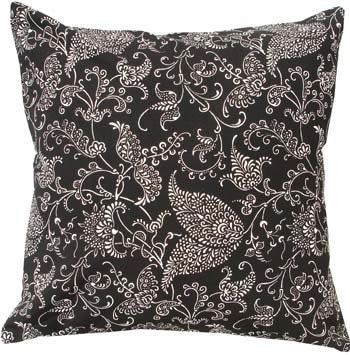 inch square FILIGREE LEAF BLACK