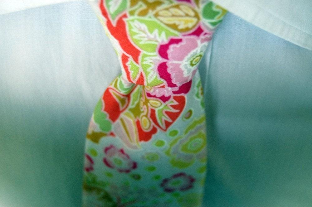 Summer Flowers Necktie