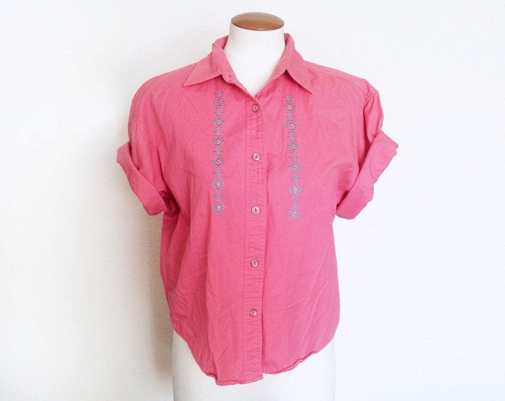 Denim Button Up Shirt Women