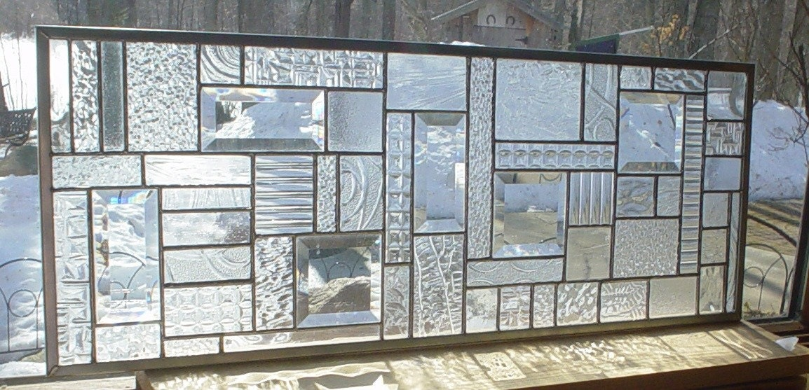 Collage Stained Glass transom panel