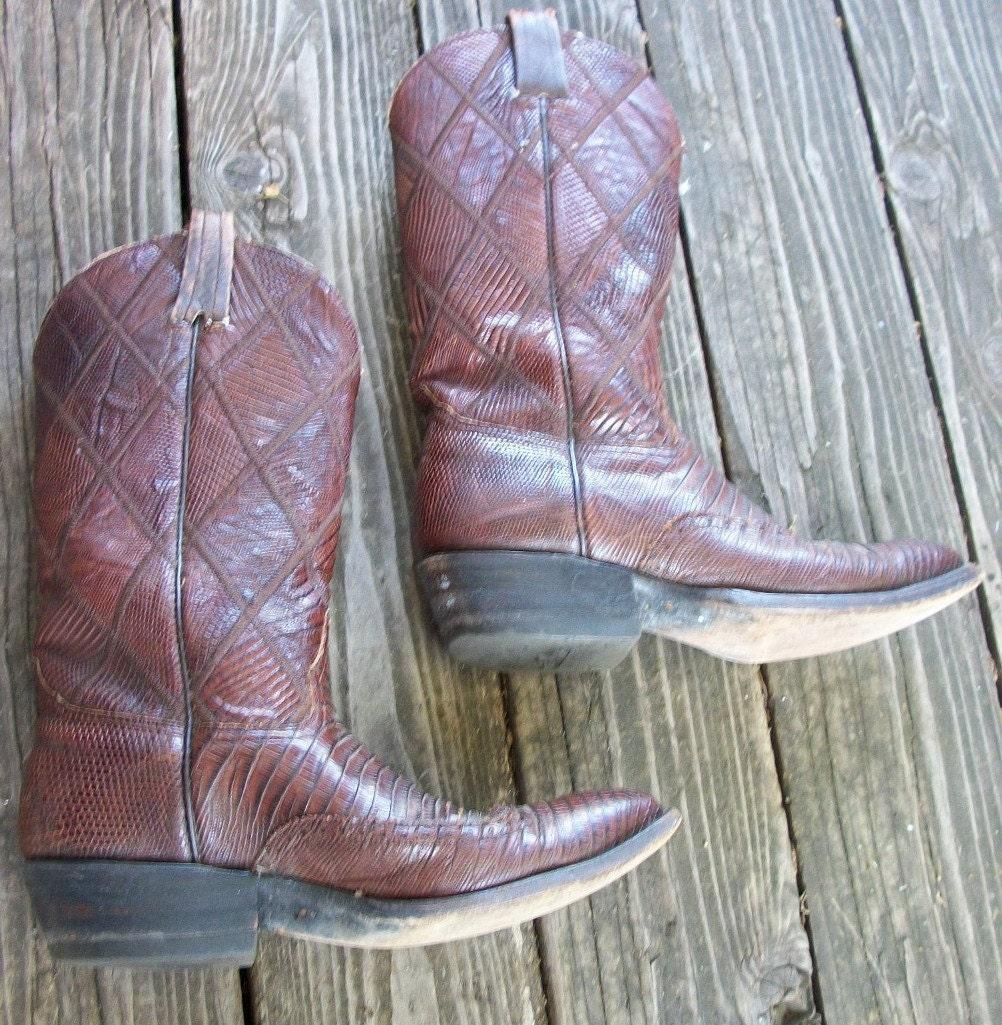 Vintage Nocona Laramie handmade leather Western cowboy boots ladies size 10