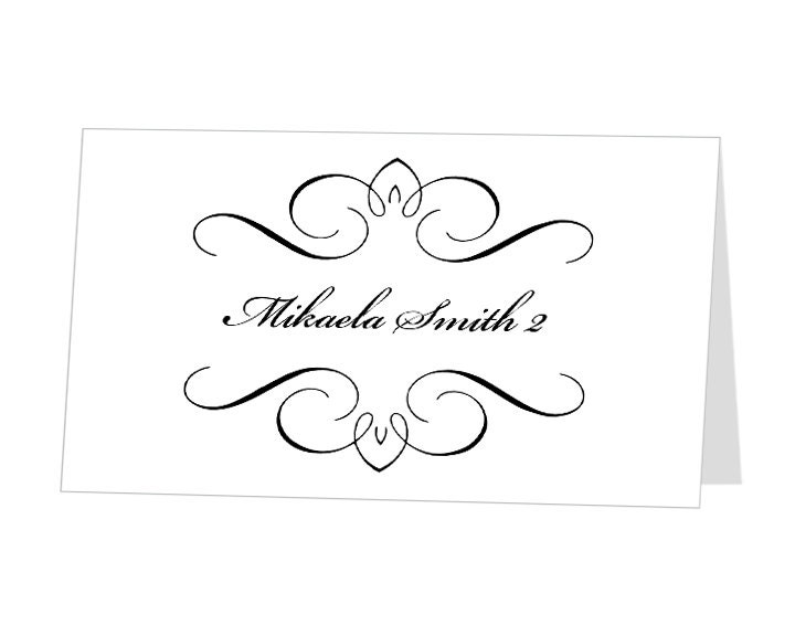 ... Editable Printable Place Cards Template - Buffet Label - Escort Card