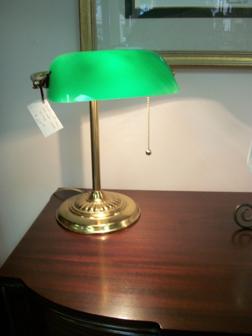 Student Library Lamp Brass By Prissyantiques On Etsy