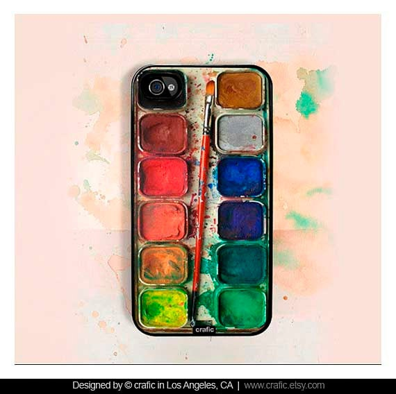 Watercolor iPhone Case 4 & 4s by CRAFIC on Etsy