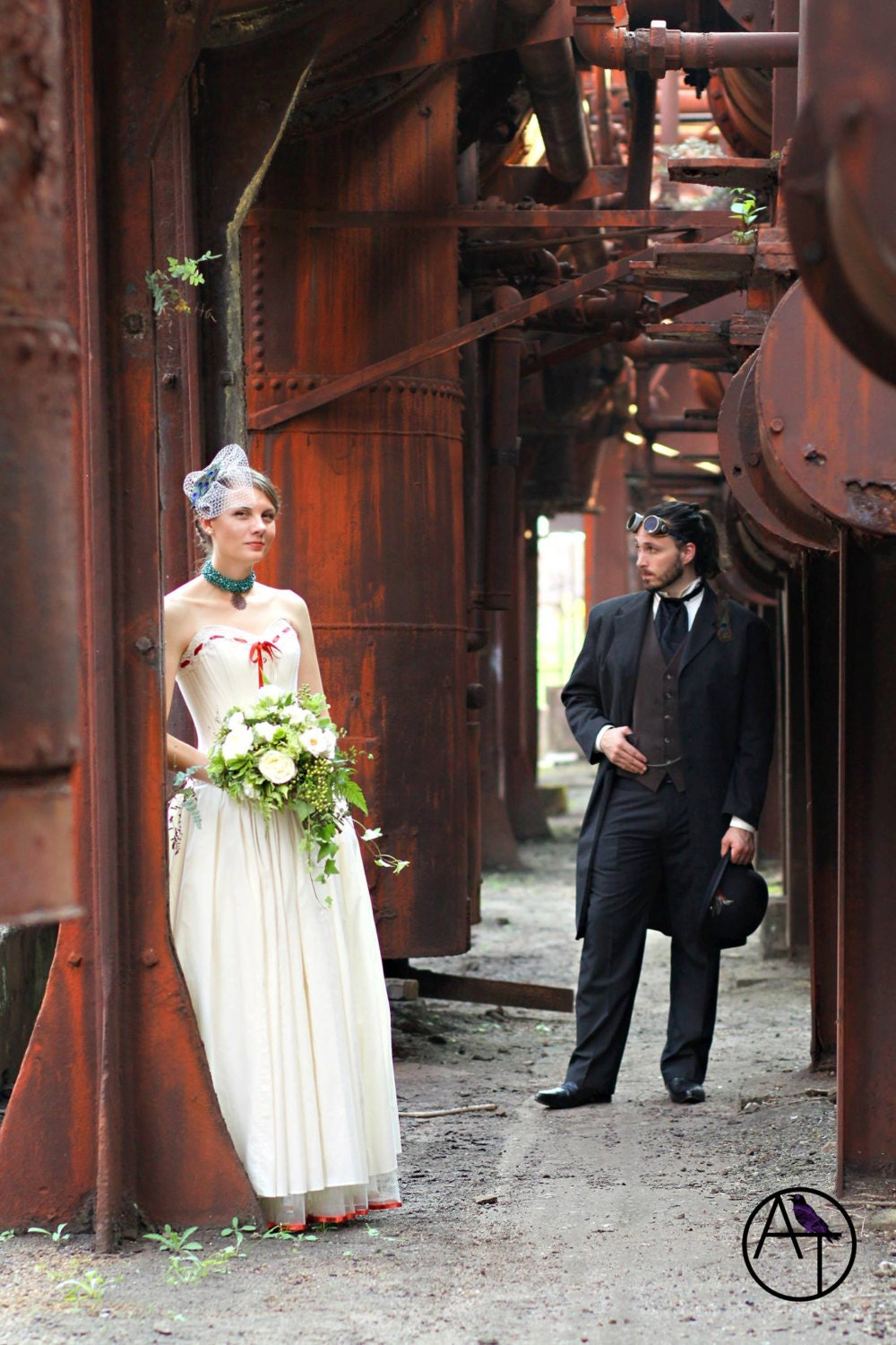 Steampunk wedding dress natural cotton by labellefairy on etsy for Organic cotton wedding dress