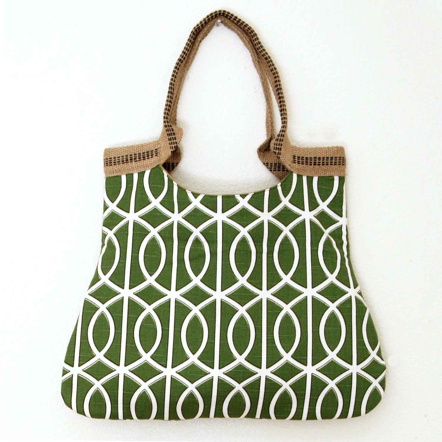 drikab watercress jute basic tote