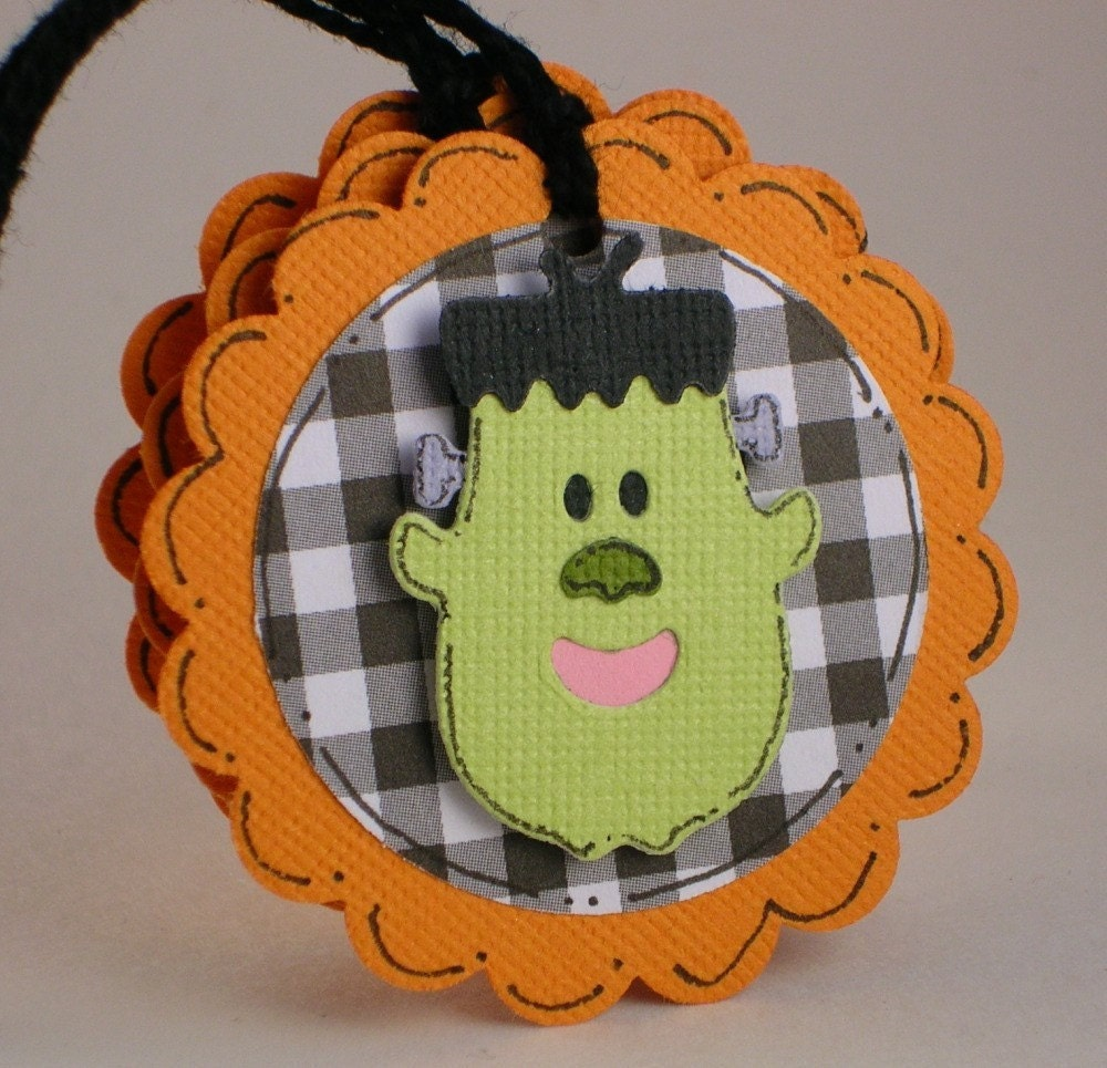 Frankenstein - Halloween Tags - FREE SHIPPING