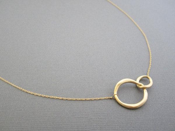 two circle necklace circle necklace two circle by