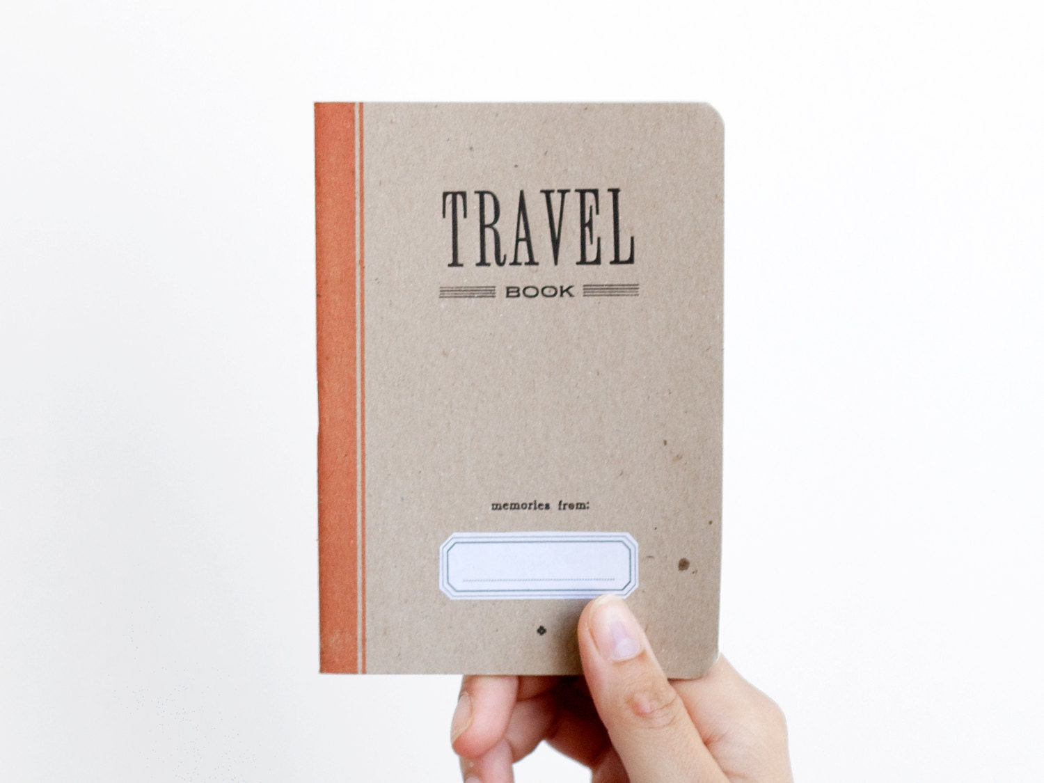 TRAVEL BOOK - ocre - letterpress printed notebook - vintage design 003 - ARMINHO