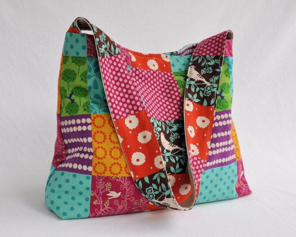 Patchwork Echino Hobo Bag