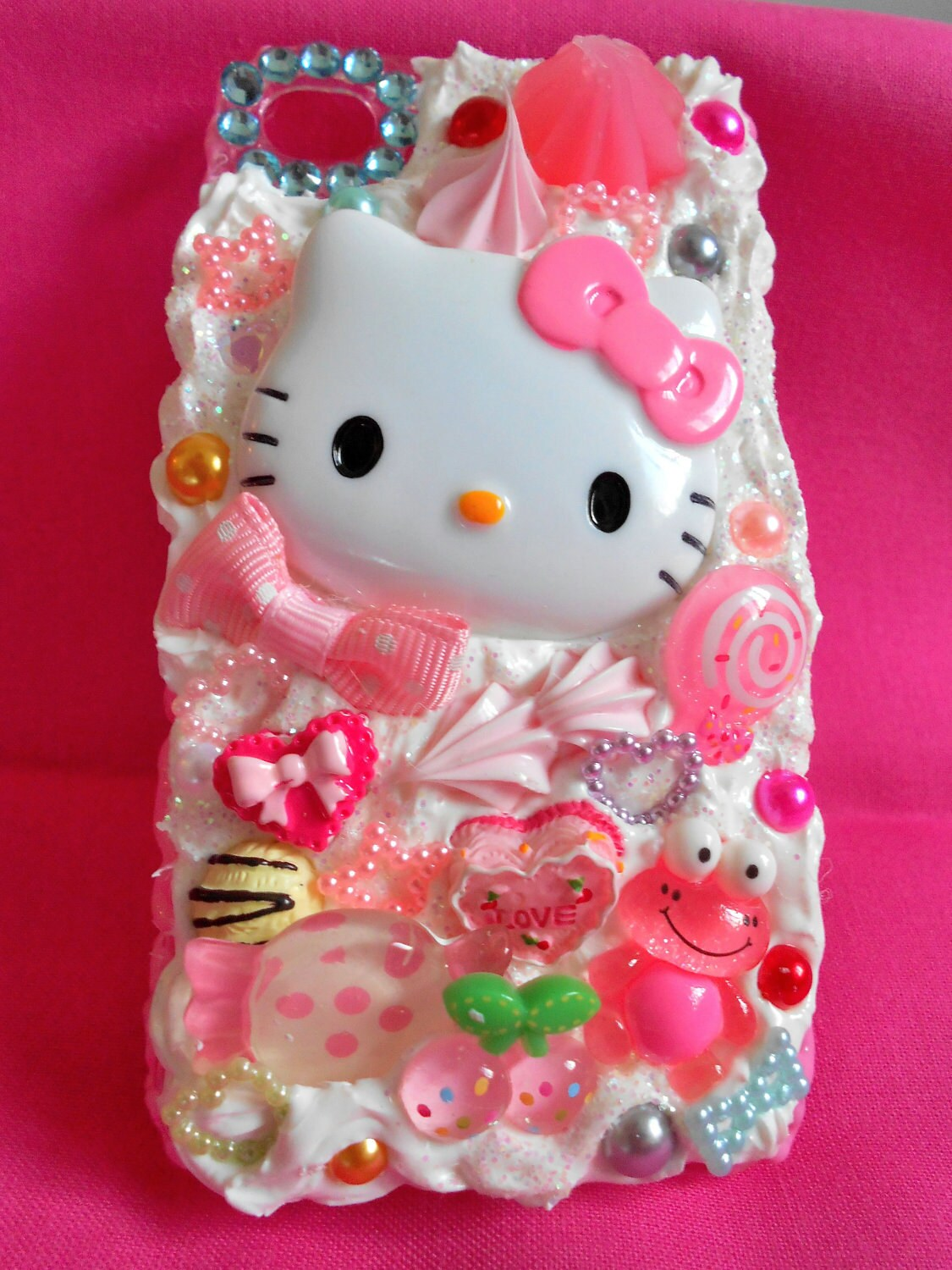 Candy Land Hello Kitty iphone 4s Decoden Case