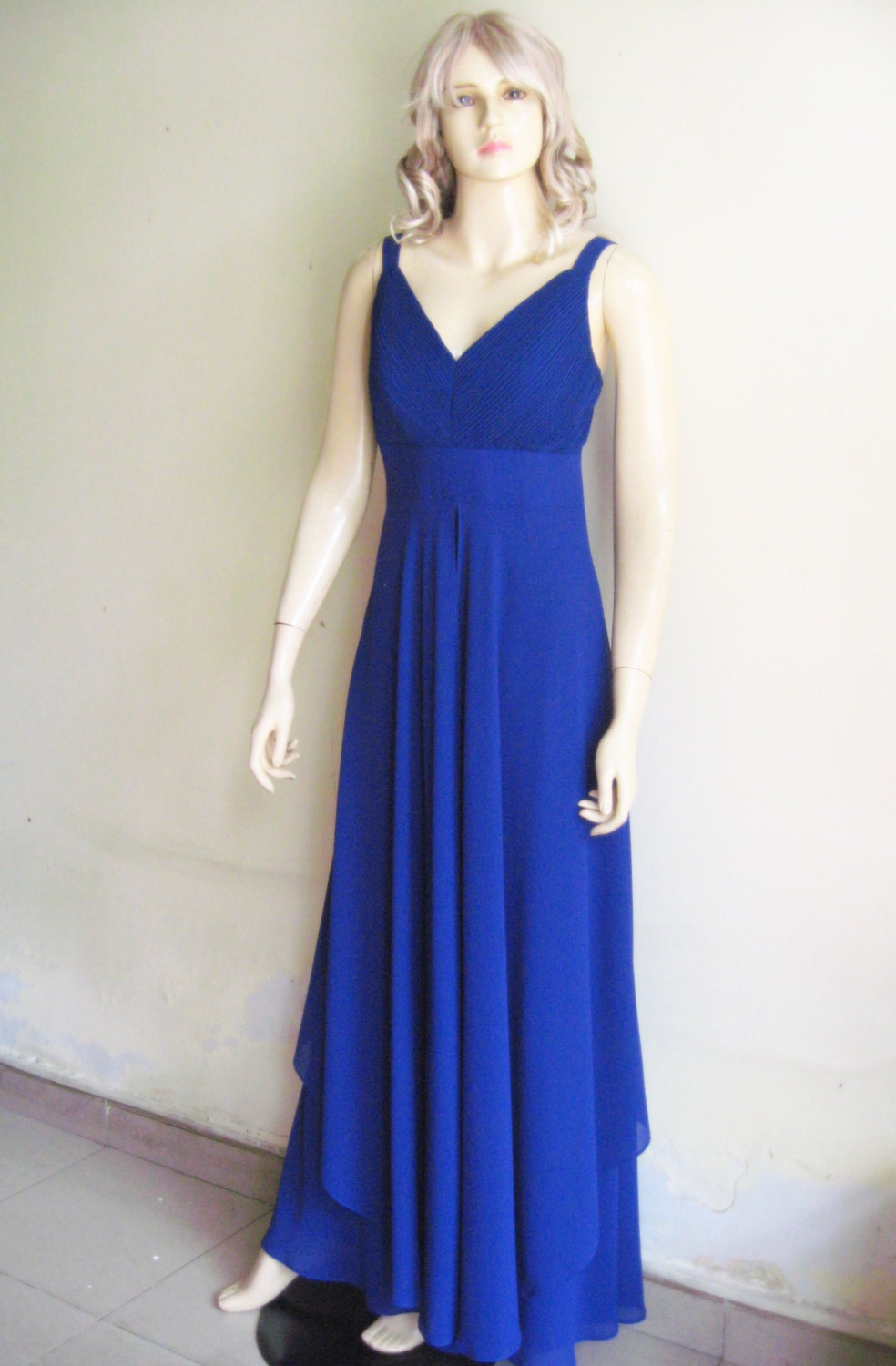 Blue Prom Dress.Long Bridesmaid Dress by lynamobley2012 on ... - photo #8