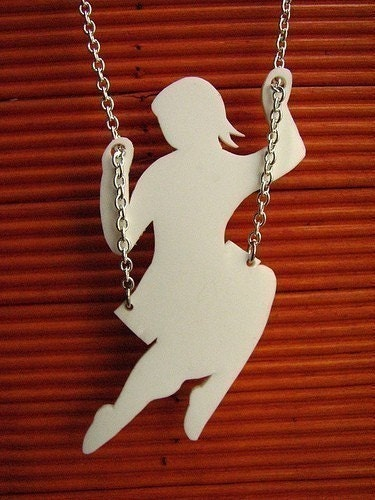 white swing necklace