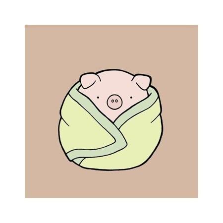 4x4 Print - Pig in a Blanket